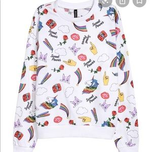 H&M graphic sweatshirt unicorn rainbow
